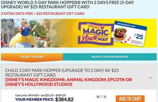 Disney World Tickets Cheaper than retail