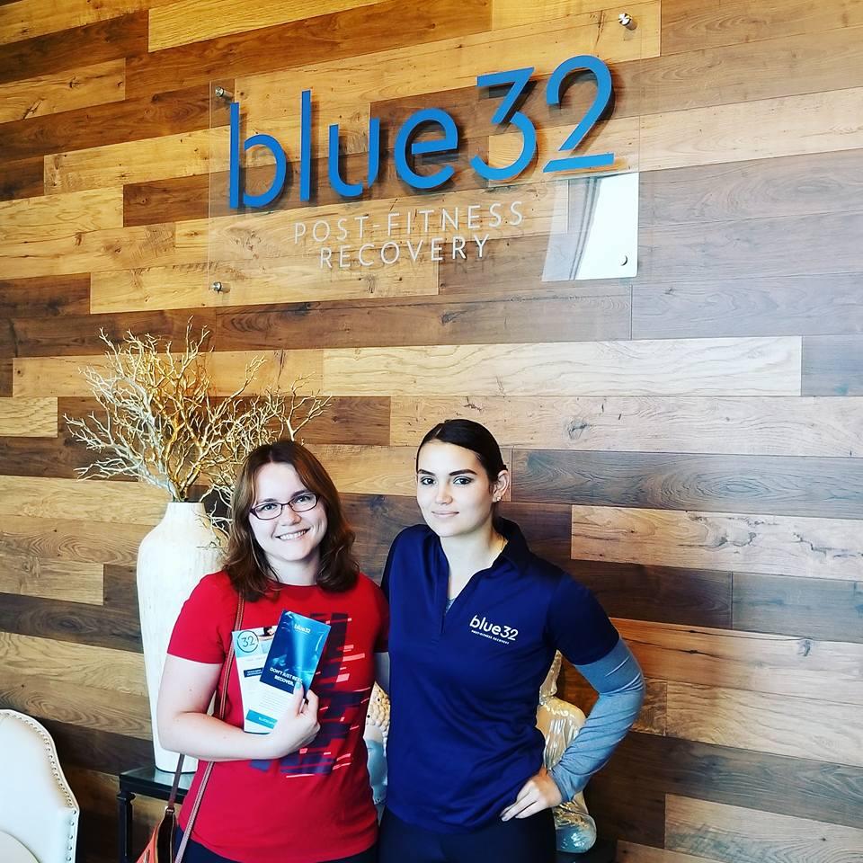 A happy Cryotherapy customer at Blue32 Jax.